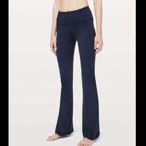 Lululemon Navy Blue Groove Flare Yoga Pants Active